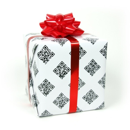 qr_code_gift_wrapping_paper